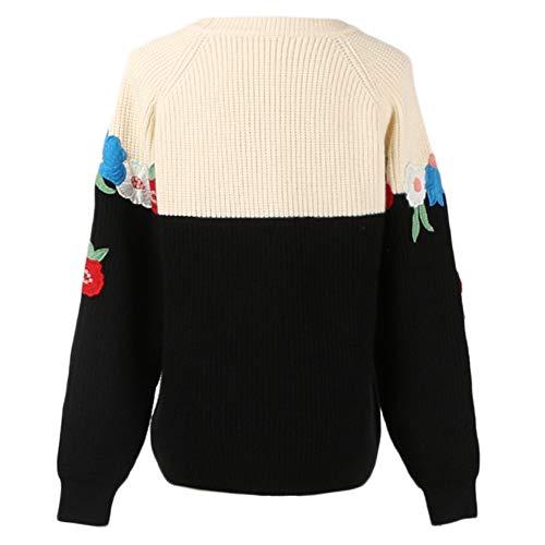Negro Mantener Jersey Super Impresión Tamaño Damas Flor Tops Patrón Vestido Larga Gran Las Manga Jumper Invierno Caliente Para De Mujeres S Niñas Suelta 3d Suéter Prendas Punto Ropa Zf6qxprZ