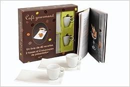 Coffret Café gourmand : Un livre de 40 recettes, 2 tasses et 2 soucoupes de présentation