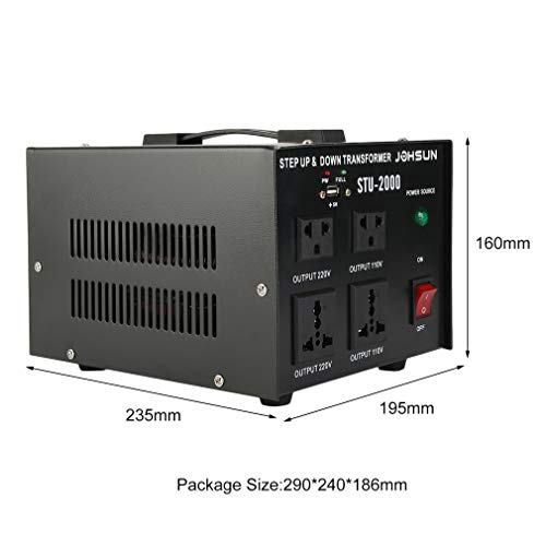 Homgrace 2000 W Voltage Converter Transformer, Heavy Duty Step Up and Down 110-220V (ST-2000W) by Homgrace (Image #8)