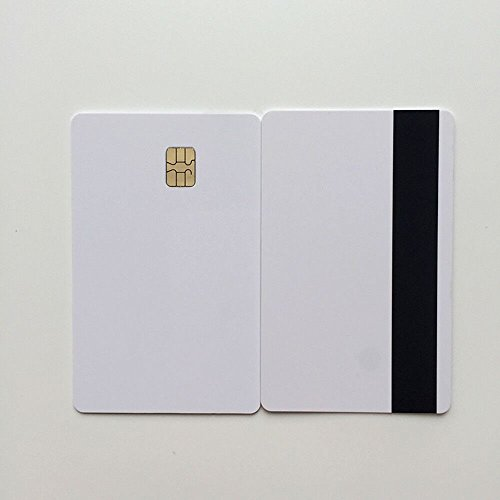 Inkjet Chip - 2 in 1 Blank Inkjet Printable PVC ID Card HICO Mag Strip with sle 4442 Chip 10PCS