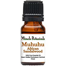 Miracle Botanicals Muhuhu - African Sandalwood Essential Oil - 100% Pure Brachyleana Hutchinsii - 10ml or 30ml Sizes - Therapeutic Grade - 10ml