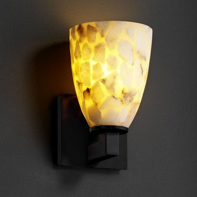 Justice Design ALR-8921-20-CROM Alabaster Rocks - One Light Modular Wall Sconce, Choose Finish: Polished Chrome Finish, Choose Lamping Option: Standard Lamping