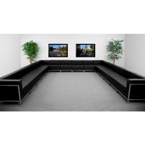 office sofa sets. Perfect Sets Amazoncom 16pc Modern Leather Office Reception Sectional Sofa Set  FF043312S10 Kitchen U0026 Dining Throughout Sets E
