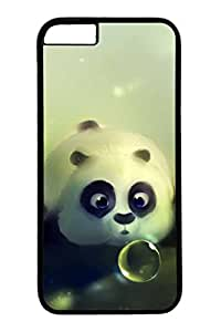 iPhone 6 Plus Case, Customized Slim Protective Hard PC Black Case Cover for Apple iPhone 6 Plus(5.5 inch)- Cute Pander Kid