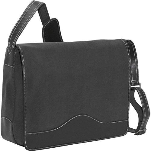Bellino the Commander Messanger, Black (Bellino Leather Messenger Bag)
