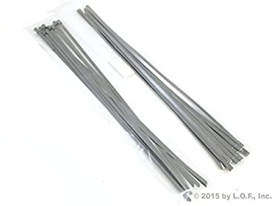 "20-Pack Heavy Duty 14"" (115lbs) Stainless Steel Exhaust Locking Zip Cable Ties"