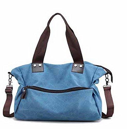 Achats fourretout Toile Bleu Sacs bandoulière Sacs à AgooLar GMBBB180683 Décontractée Femme XR8gwg