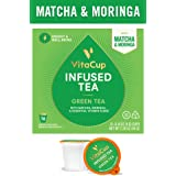 VitaCup Green Tea Top Rated Coffee Cups Infused With Essential Vitamins B12, B9, B6, B5, B1, D3 in Single Serve Keurig Compatible with 2.0 K-Cup Brewers (16 Count)