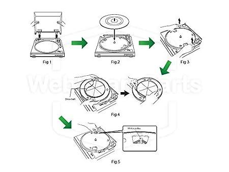 Grundig ps-2500, PS2500 Correa de Repuesto para Tocadiscos: Amazon ...