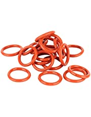 Suuonee Tube Damper, 20pcs Tube Damper Silicone Rings Fit for 12AX7 12AU7 12AT7 12BH7 EL84 (Orange)
