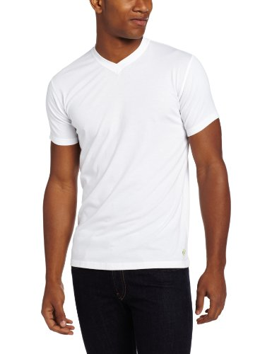 tasc Performance Men's V-Neck Undershirt, White, Medium Bamboo V-neck Tee