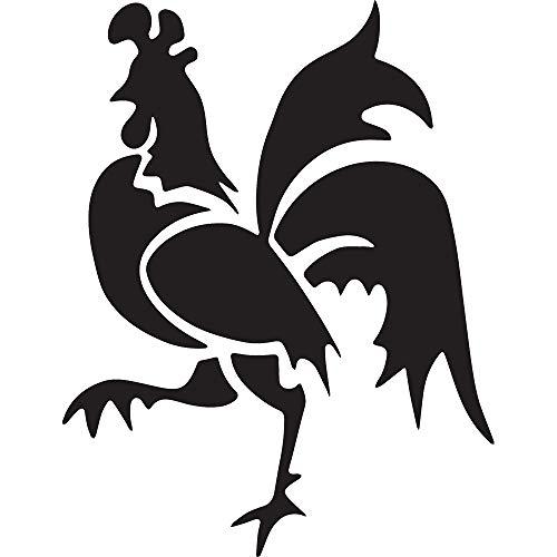 Animal Rooster WILDLFIE (Black) (Set of 2) Premium Waterproof Vinyl Decal Stickers for Laptop Phone Accessory Helmet Car Window Bumper Mug Tuber Cup Door Wall Decoration ()