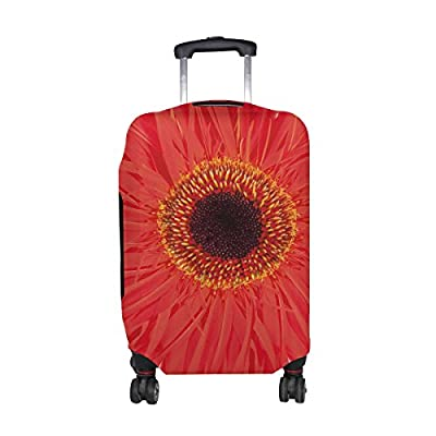 good Plants Flower Gerbera Pattern Print Travel Luggage Protector Baggage Suitcase Cover Fits 18-21 Inch Luggage