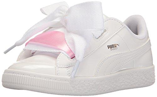 Kids' Puma Whit Sneaker Ps Heart White Basket Patent puma TSS47nwq