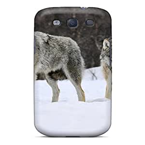 Tough Galaxy TVaLwMd28189cXSqS Case Cover/ Case For Galaxy S3(wolfs In Wild In The Snow)
