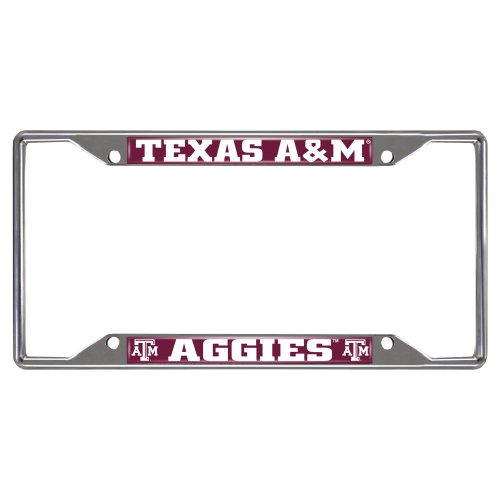 FANMATS  14895  NCAA Texas A&M University Aggies Chrome License Plate Frame by Fanmats