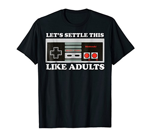 Nintendo Controller Let's Settle This Like Adults T-Shirt