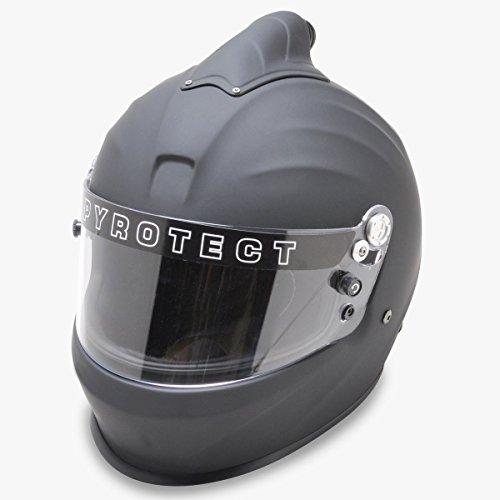 Pyrotect Racing Suit - Pyrotect 8022005 Helmet Flat Blk MediumTop Air Pro Sport SA2015