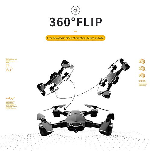 Choosebuy 360 Degree Roll RC Drone with HD Camera, 0.3/2MP Wide Angle Camera FPV 2.4G/One Key Return/WiFi Control/Foldable Quadcopter/Outdoor Toy Gift for Beginners for Adults (A) by Choosebuy (Image #2)