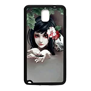 Water girl And Fish Painting personalized creative clear protective cell phone case for Samsung Galaxy Note3