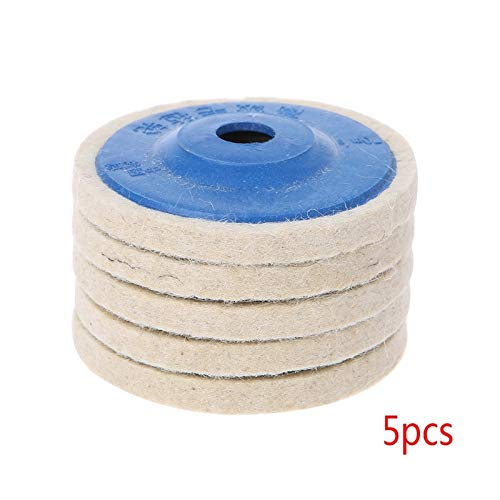 1 lot 5Pcs 4'' Round Polishing Wheel Felt Wool Buffing Polishers Pad Buffer Disc Tools