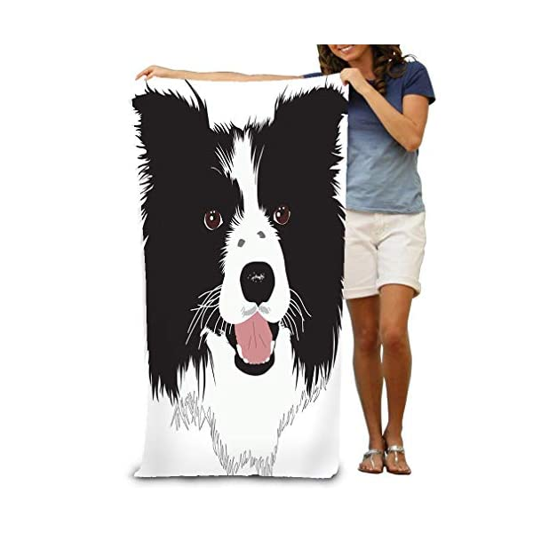 "Xunulyn Bath Towel Beach Towel Border Collie Dog Bath Towels 31"" X 51"" 1"