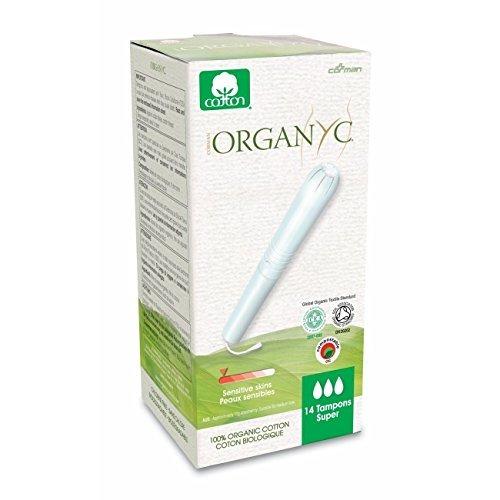 Organyc Tampon Applicator (Organyc Organic Cotton Tampons with Applicator - Super -14 per pack)