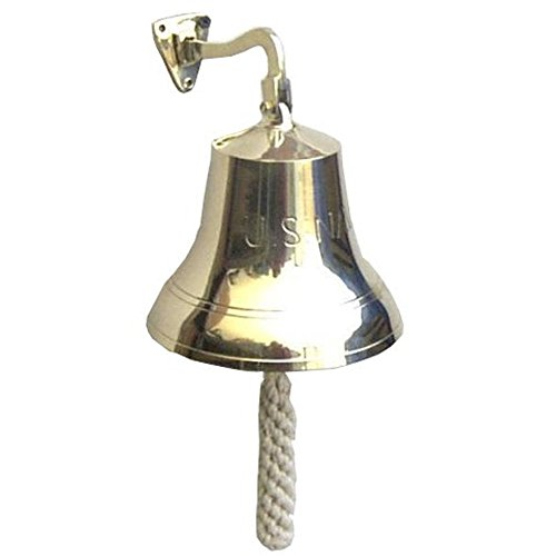 Large Navel Solid Brass Ship's Bell by ITDC