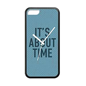 """meilz aiai""""IT'S ABOUT TIME"""" Special Blue Clock design Personality Custom Silicon Rubber Cover Case For iphone 6 plus 5.5 inch By meilz aiai"""