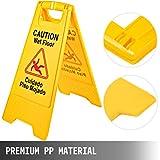 BestEquip Caution Wet Floor Signs Yellow Wet Floor