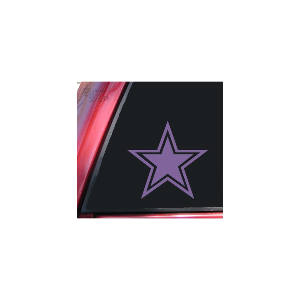 Star With Outline Lavender Vinyl Decal Sticker