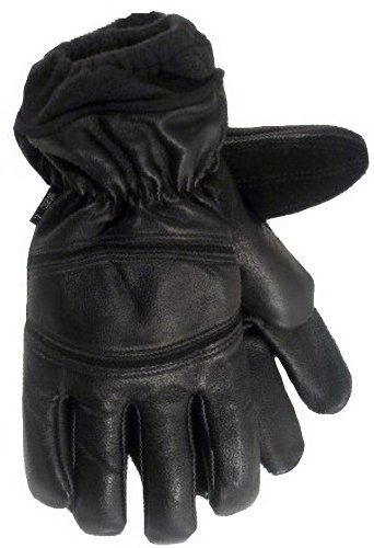Carolina Gloves 20006 Winter Ace Black Leather Glove for Extreme Cold Weather, Medium (Carolina Mens Leather)