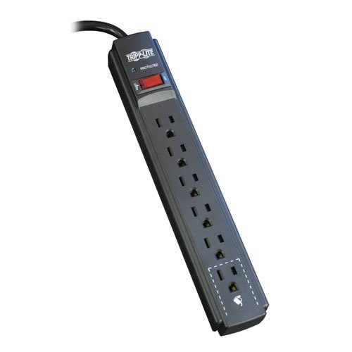 Tripp Lite TLP606B Surge Protector Strip 120V 6 Outlet 6ft Cord 790 Joule Black