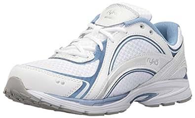 Ryka Women's Sky Walking Shoe, White/Blue, 6 W US