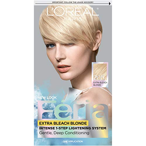 L'Oréal Paris Feria Multi-Faceted Shimmering Permanent Hair Color, 205 Bleach Blonding (Extra Bleach Blonde), 1 kit Hair Dye