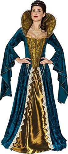 Ladies Deluxe Anne Boleyn Tudor Queen Historical British Royalty Fancy Dress Costume Outfit (UK 6-8 (EU 34/36))]()