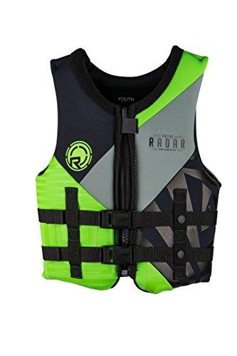 - Radar TRA Boy's - CGA Life Vest - Black/Lime Green - Youth (50-90lbs) (50-90)