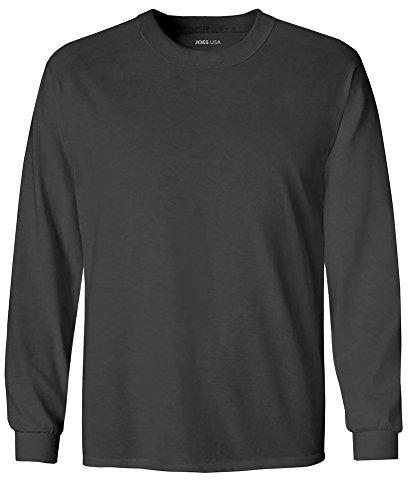 Joe's USA Youth Long Sleeve Core Cotton Tee Youth-S-Charcoal