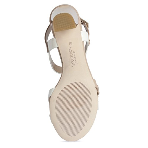 Sandals Nude Block Collection Women's Leather TJ Heel qxz8Y0xv