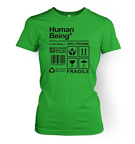 Human Being Women's T-shirt - Science Geek Tshirt - Irish Green X Large (approx ()
