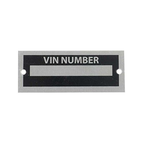 MACs Auto Parts 28-68530 Blank VIN Number Plate (Search For Car Parts By Vin Number)
