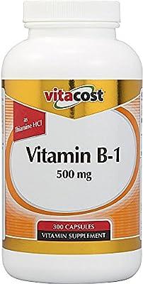 Vitacost Vitamin B-1 -- 500 mg - 300 Capsules