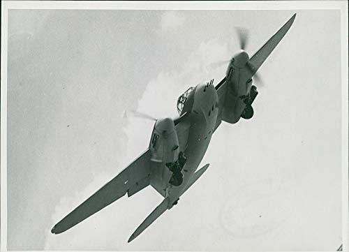Twin Mosquito Engine (Vintage photo of de Havilland Mosquito Combat aircraft:)