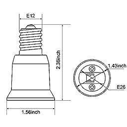 JACKYLED 15-Pack E12 to E26 / E27 Adapter Chandelier Socket (E12) to Medium Socket (E26/E27) Converter ,Max Wattage 1000W,200℃ Heat Resistant,No Fire Hazard