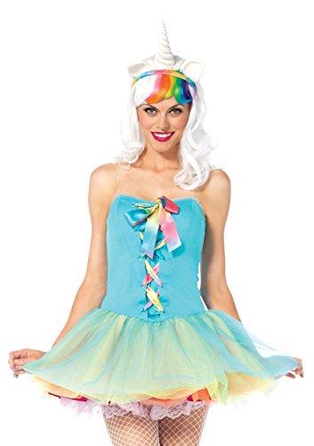 Leg Avenue Women's 3 Piece Rainbow Fairy Costume, Multicolor, (Leg Avenue Fairy Costume)