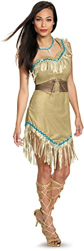 Disguise Women's Pocahontas Deluxe Adult Costume, Multi, (Adult Pocahontas Halloween Costumes)