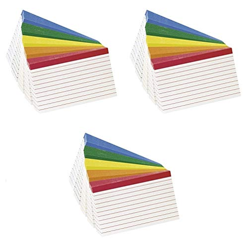 - Esselte Corporation Oxford Color Coded Index Cards, 4x6 Inches, Pack of 100 (3 Pack)