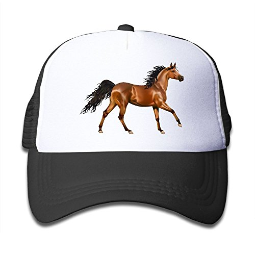 Poii Qon 3D Horse Boy's Washed Adjustable Mesh -
