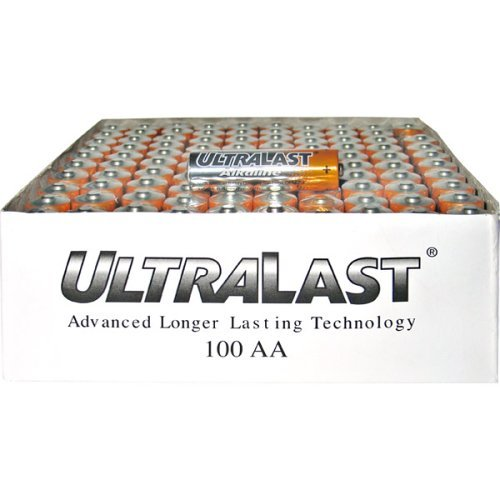 NABC UltraLast ULA100AAB AA Size General Purpose Battery - Alkaline - 1.5V DC General Purpose Battery-100 count by Ultralast