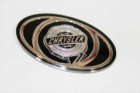 (2005-2010 Chrysler 300 S Grille Emblem Decal Silver & Black MOPAR OEM)